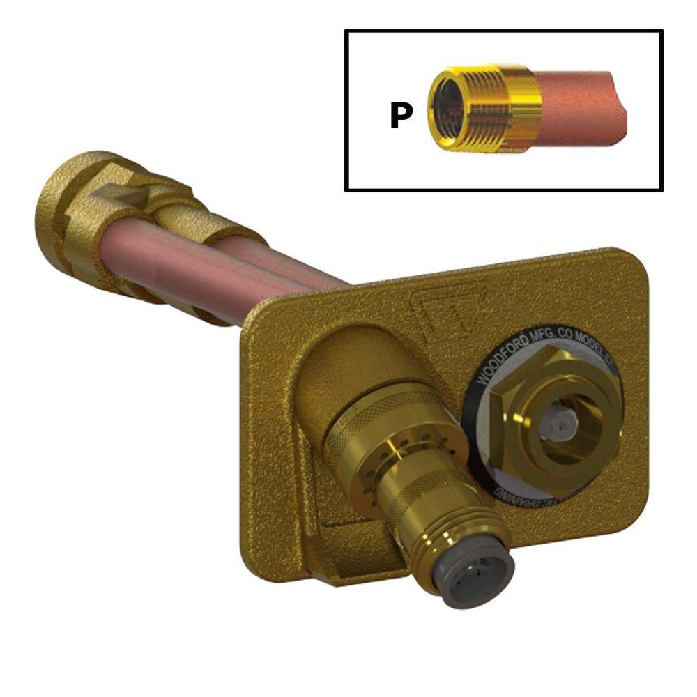 3/4 in. FPT x 4 in. Freezeless Brass Wall Hydrant with