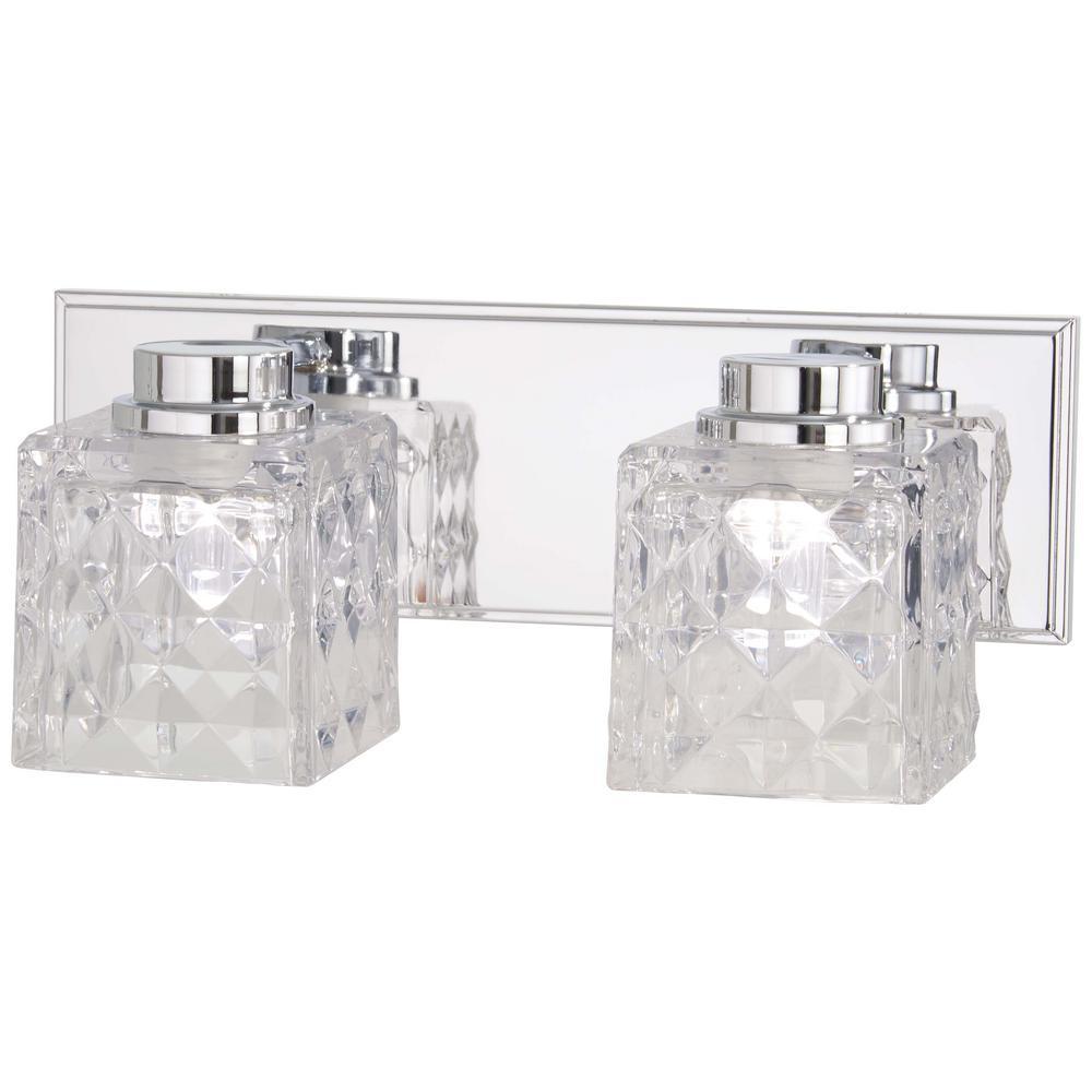 Glorietta 75-Watt Equivalence Chrome Integrated LED Bath Light