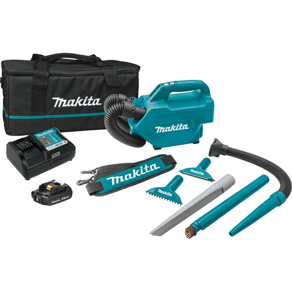 Makita 12-Volt 2.0 Ah MAX CXT Lithium-Ion Cordless Vacuum Kit