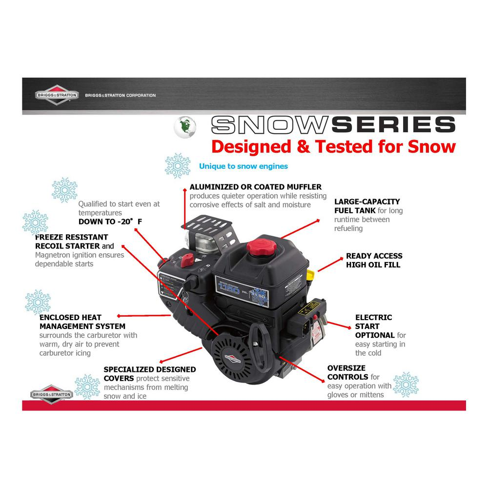 Briggs Stratton 24 In Two Stage Electric Start Gas Snowthrower 1696610 The Home Depot
