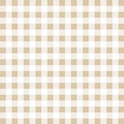 Creative Covering 18 in. x 20 ft. Khaki Plaid Self-Adhesive Vinyl Drawer and Shelf Liner (6 rolls)