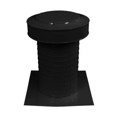 8 in. Dia Keepa Vent an Aluminum Static Roof Vent for Flat Roofs in Black
