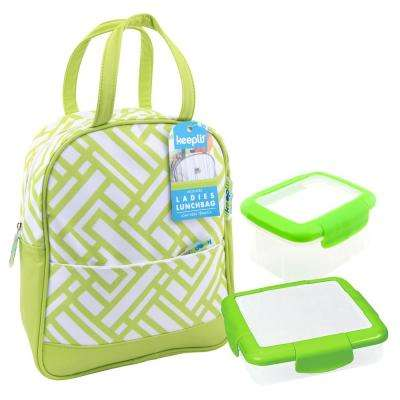 3-Piece Food Storage Container Assorted Pack in Green
