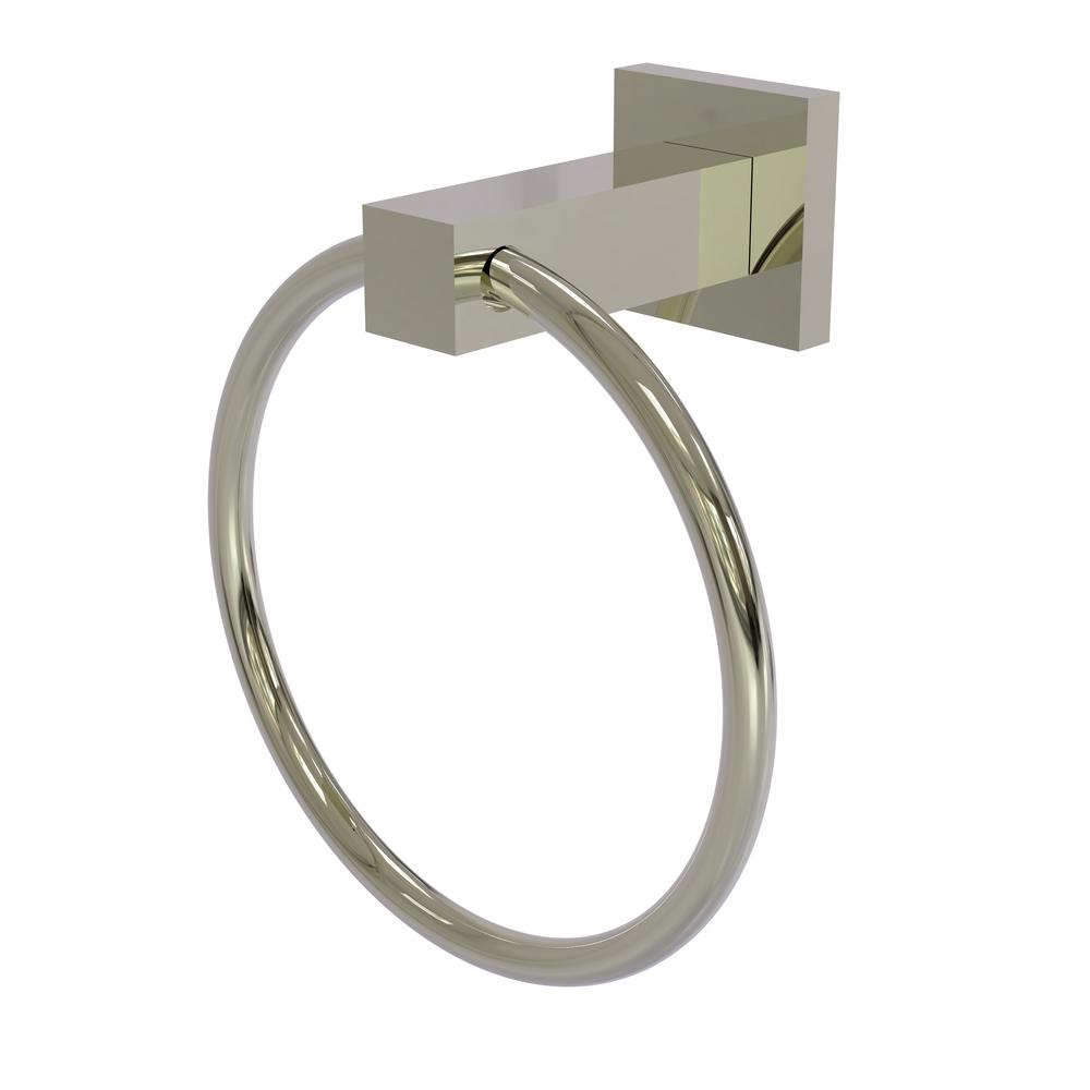 Montero Collection Towel Ring in Polished Nickel