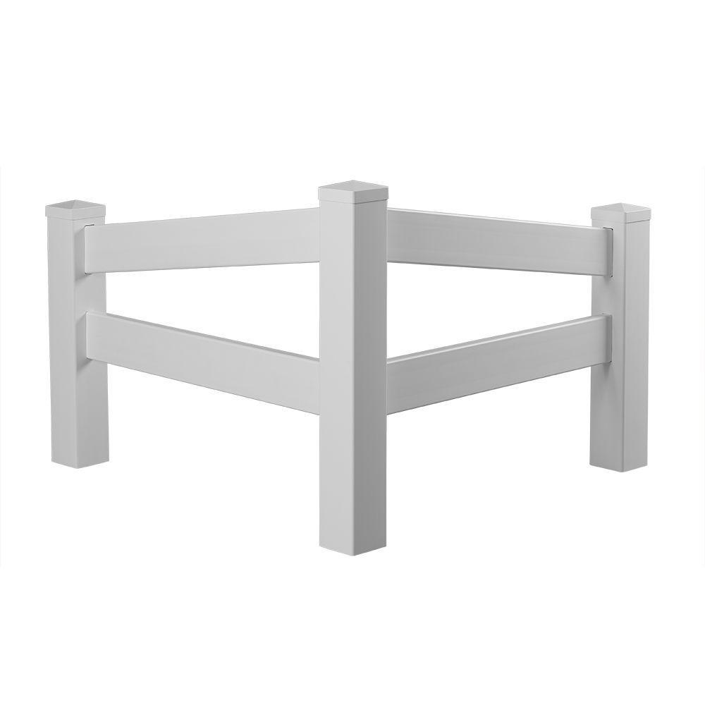 W White Vinyl Angled Fence Corner