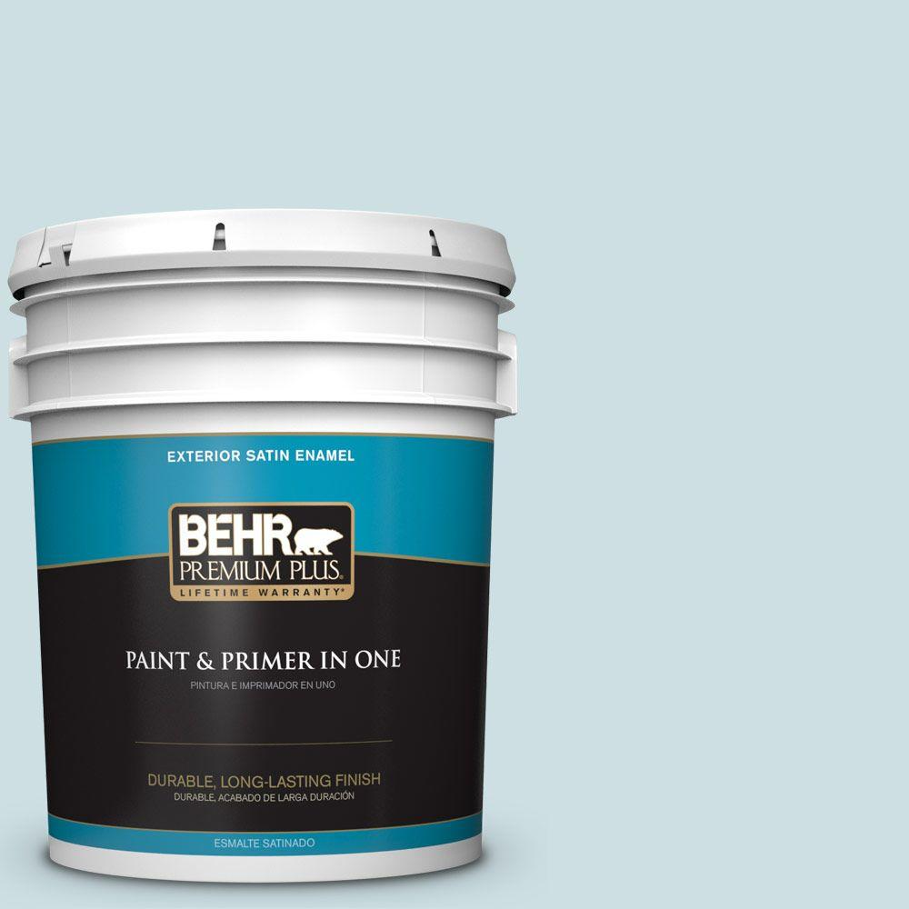 5 gal. #HDC-CT-16B Waterfall Satin Enamel Exterior Paint
