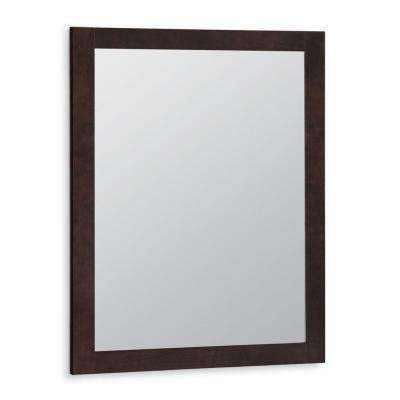 Artisan 24 in. x 31 in. Framed Vanity Mirror in Java