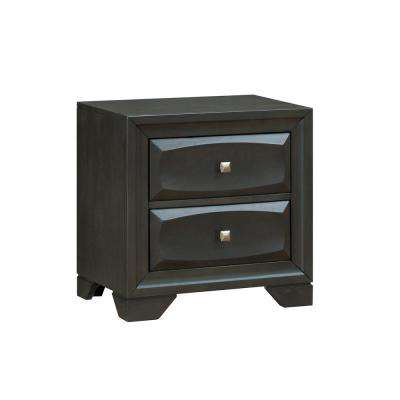 Clotilde Antique Gray Transitional Style Nightstand