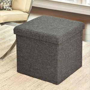 Fantastic Seville Classics Foldable Storage Cube Ottoman Charcoal Gmtry Best Dining Table And Chair Ideas Images Gmtryco