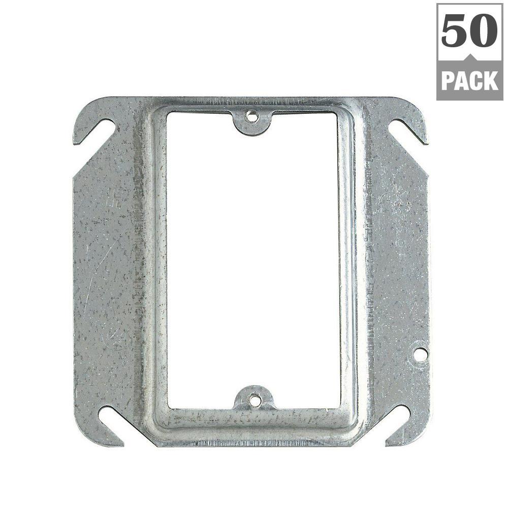 1-Gang Square Metal Mud Ring (Case of 50)