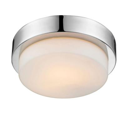 Maddox Collection 1-Light Chrome Flush Mount