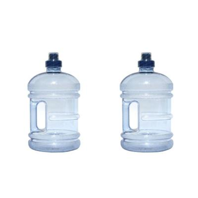 H8O 64 oz. BPA Free Water Jug with Handle in Blue (2-Pack)