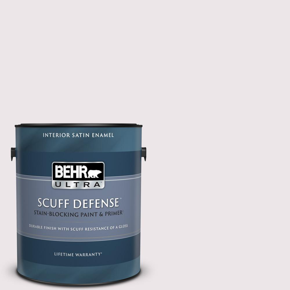 Behr Ultra 1 Gal 670c 1 November Pink Extra Durable Satin Enamel Interior Paint And Primer In One 775001 The Home Depot