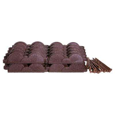 20 ft., 12 in. Pieces Dark Brown Rubber Edging