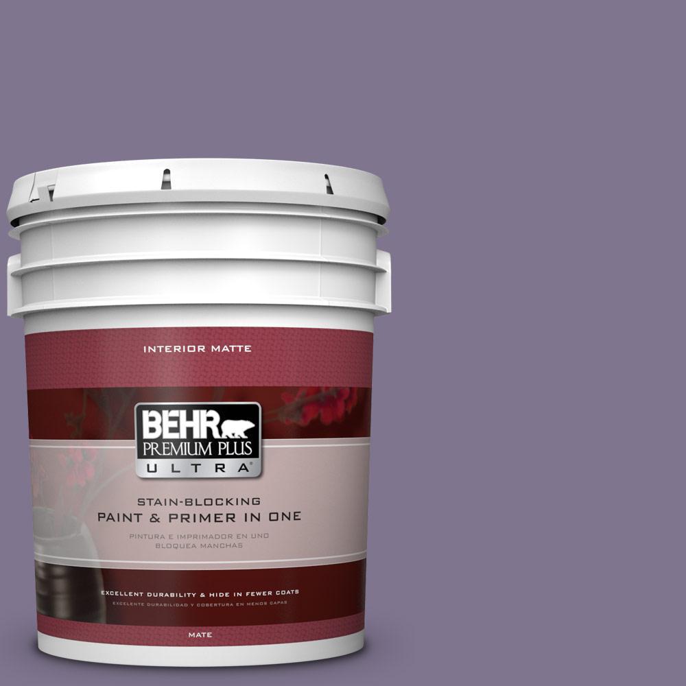 5 gal. #650F-5 Purple Statice Flat/Matte Interior Paint
