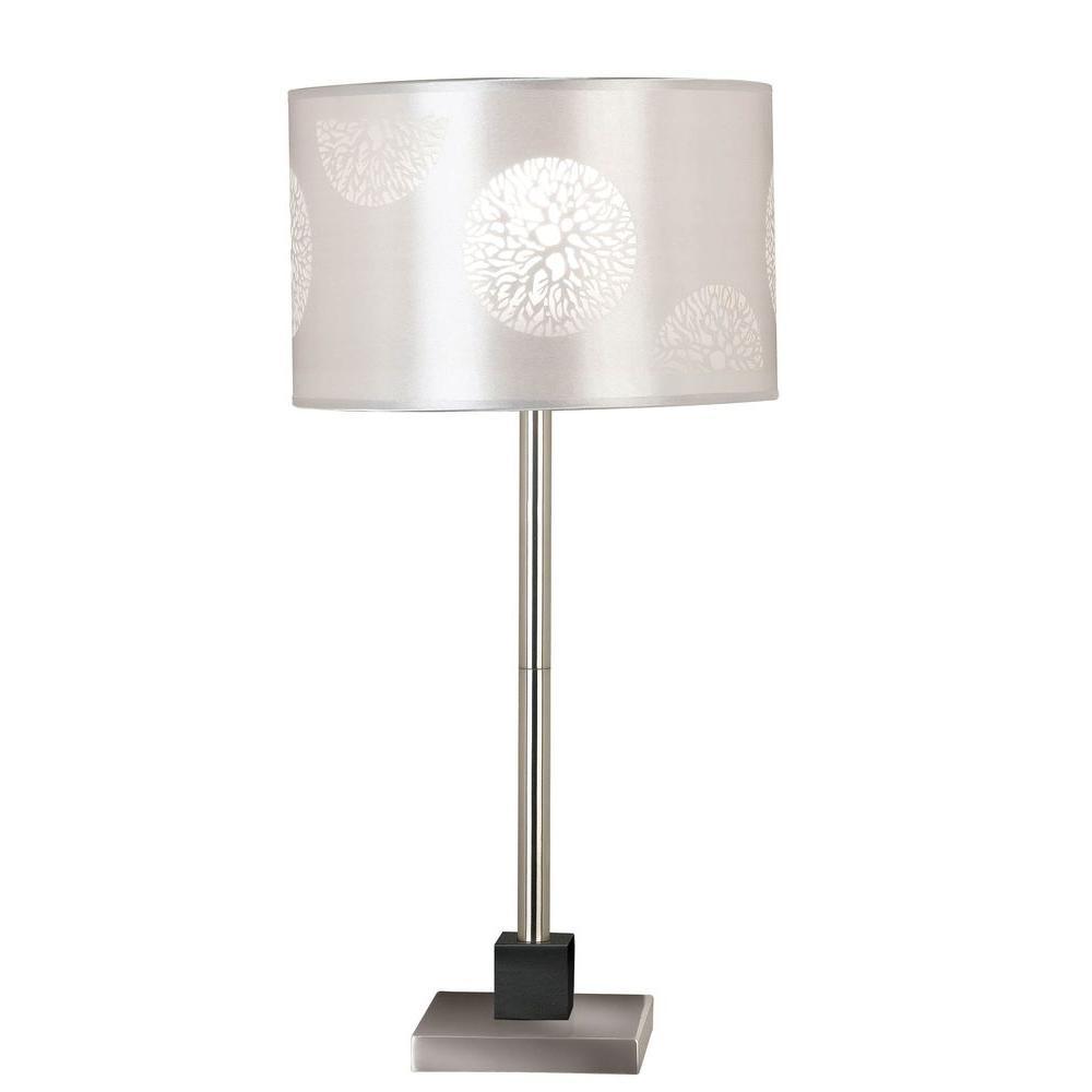 Kenroy Home Cordova 26 in. Brushed Steel Table Lamp