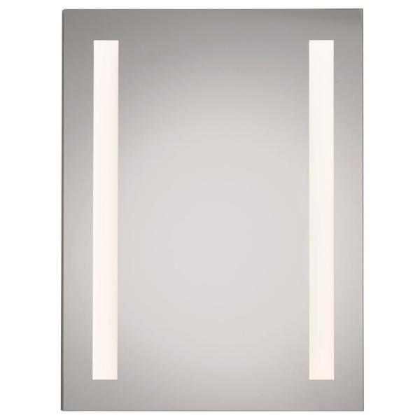 LED Backlit Single Door Medicine Cabinet 24 in. x 36 in. Hinge Left, with Electric and Night Light