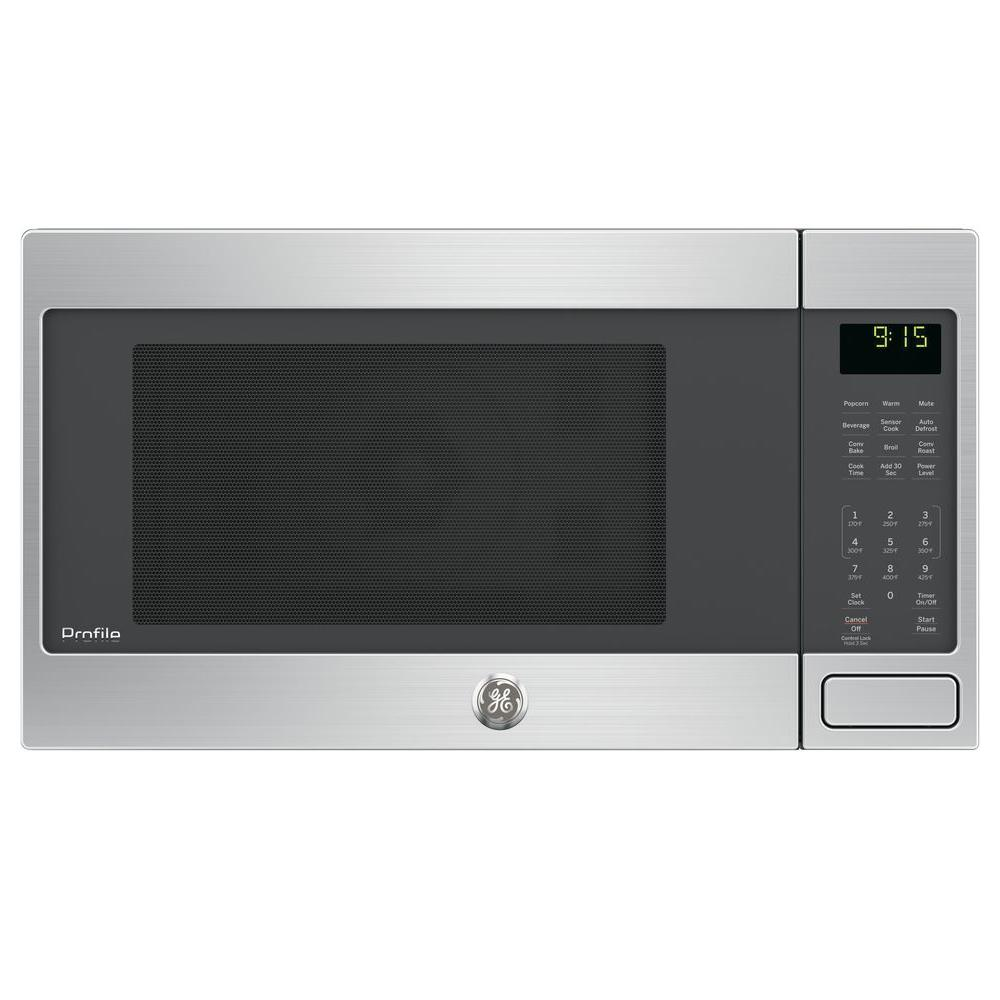 ge profile 1 5 cu ft countertop convection microwave in stainless