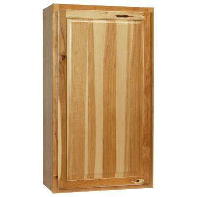 Hampton Assembled 24x42x12 in. Wall Kitchen Cabinet in Natural Hickory