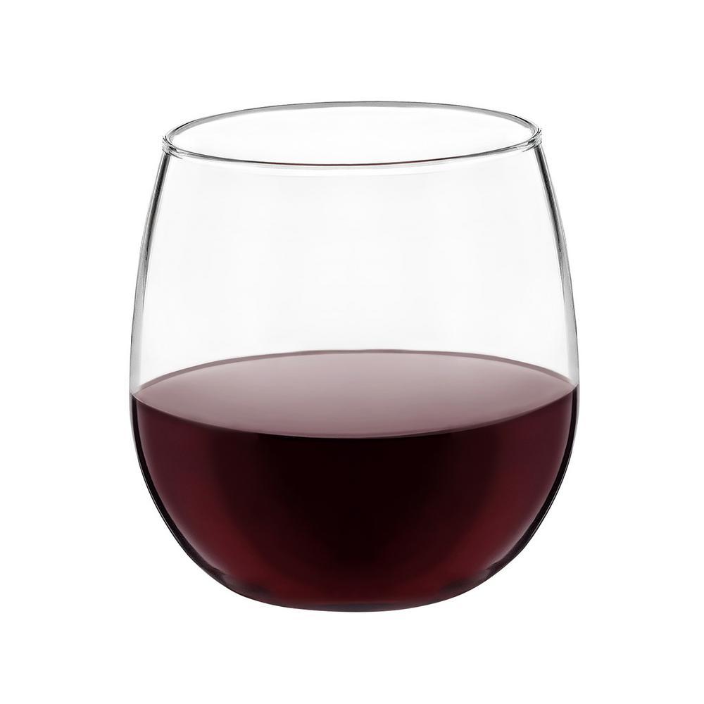 4613cf2078a Libbey Stemless 20 fl. oz. and 17 fl. oz. Wine Glass Set (12-Pack ...