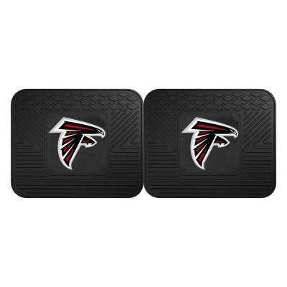 NFL Atlanta Falcons Black Heavy Duty 2-Piece 14 in. x 17 in. Vinyl Utility