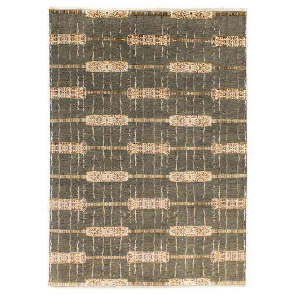 Solo Rugs Grit And Ground Jewel Lariat Gray 9 Ft X 12 Ft Hand Knotted Area Rug Gg010503022 The Home Depot