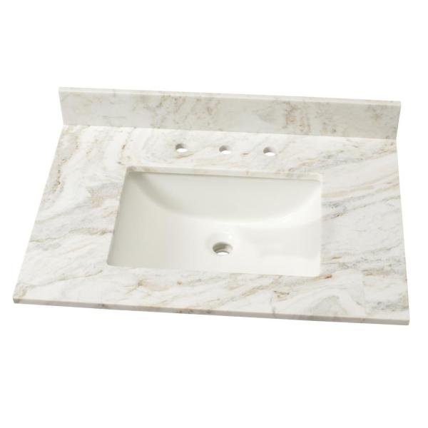 Marble Single Sink Vanity Top