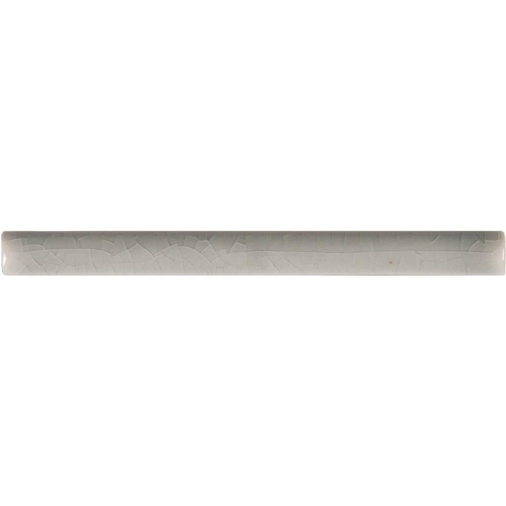 Morning Fog Quarter Round Molding 5/8 in. x 6 in. Glossy Ceramic Wall Tile (2.5 lin. ft. / case)