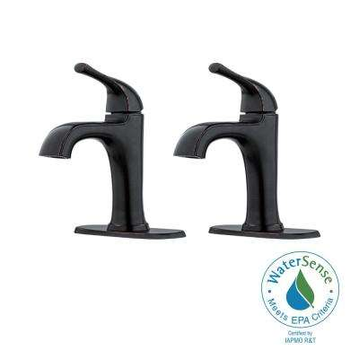 Ladera 4 in. Centerset Single-Handle Bathroom Faucet in Tuscan Bronze (2-Pack)