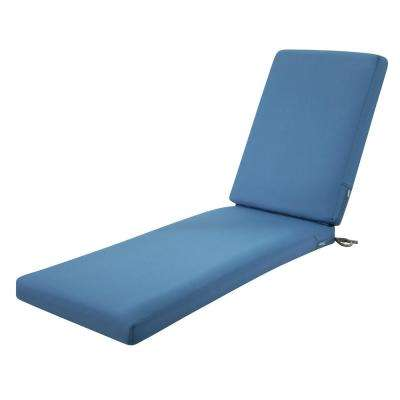 Ravenna Empire Blue 72 in. L x 21 in. W x 3 in. Thick Outdoor Chaise Lounge Cushion