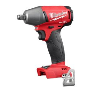 Milwaukee M18 FUEL 18-Volt Cordless Lithium-Ion Brushless 1/2 inch Compact Impact Wrench with Friction Ring (Tool-Only) by Milwaukee