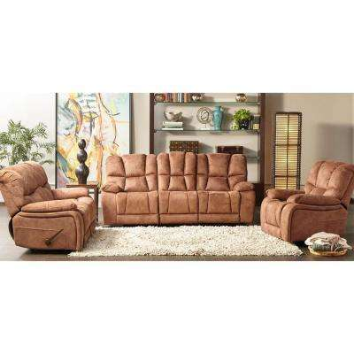 Wolf Creek 3-Piece Tan Living Room Set