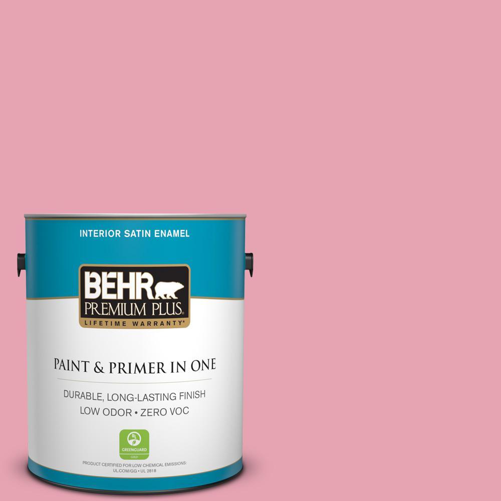 BEHR Premium Plus 1-gal. #P140-3 Love at First Sight Satin Enamel Interior Paint