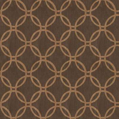 Ecliptic Brown Geometric Wallpaper