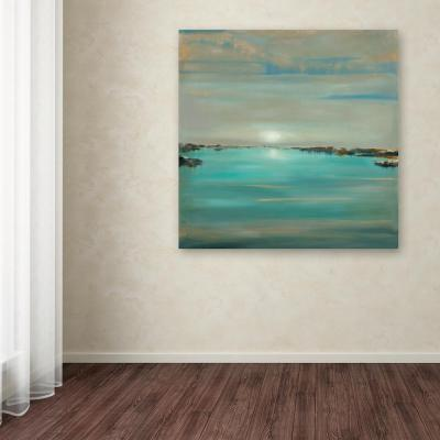 """24 in. x 24 in. """"Blue Light"""" by Rio Printed Canvas Wall Art"""