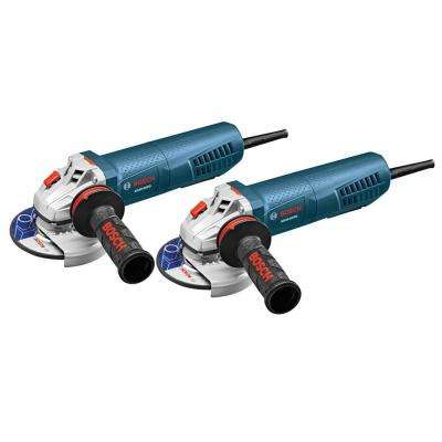 8.5 Amp Corded 4-1/2 in. Paddle Grinder Power Tool Combo Kit (2-Pack)