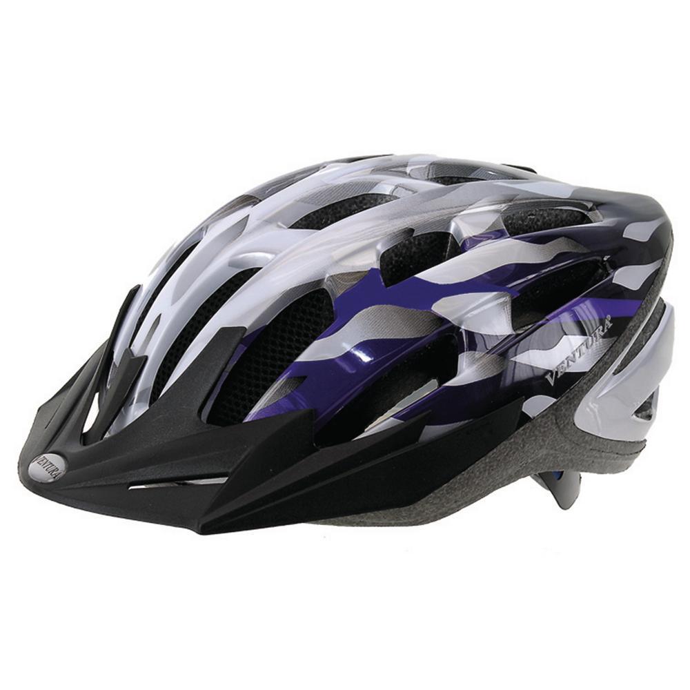 In-Mold Medium Bicycle Helmet in Silver/Blue