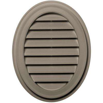 27 in. Oval Gable Vent in Clay