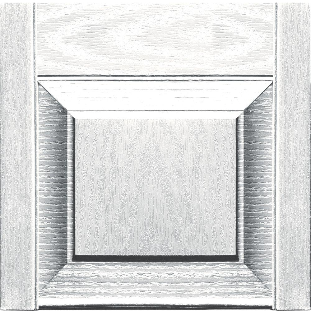 15 in. x 12 in. Bright White Transom Tops Pair #117