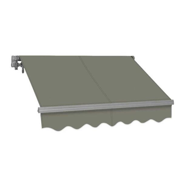 12 ft. SG Series Manual Retractable Patio Awning (118 in. Projection) in Gray
