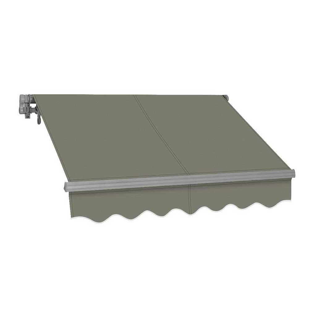 low priced 87f51 221c8 Advaning 14 ft. SG Series Light Weight Manual Retractable Patio Awning (10  ft. Projection) in Gray