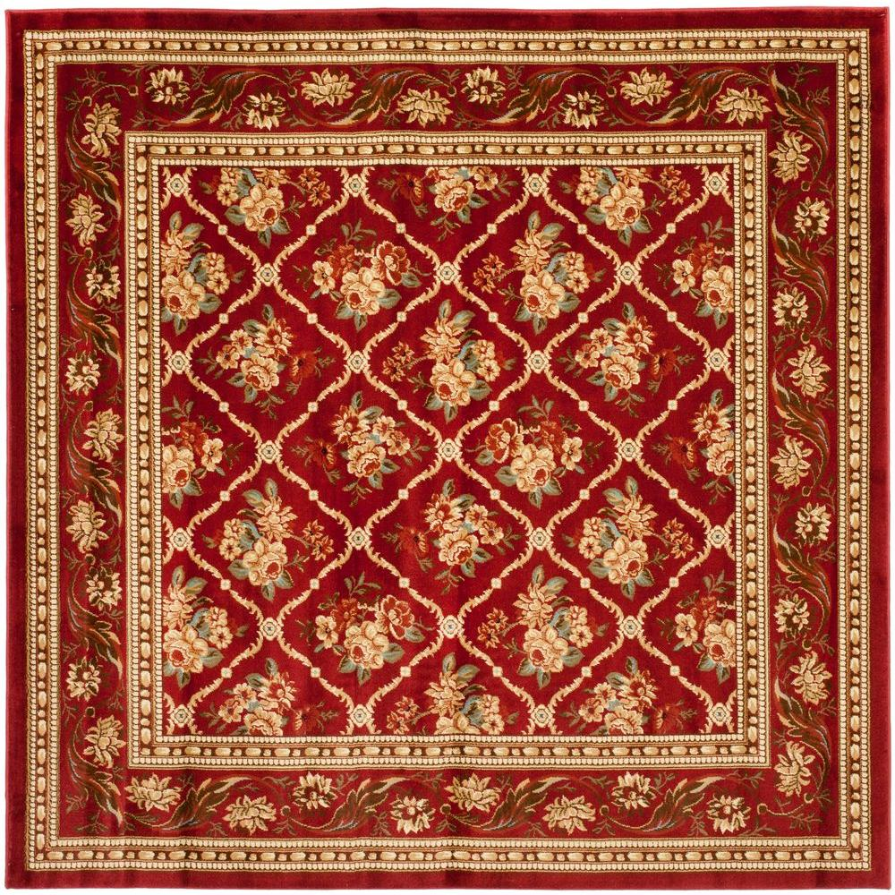 Safavieh Lyndhurst Red 7 Ft X 7 Ft Square Area Rug Lnh556 4040 7sq The Home Depot