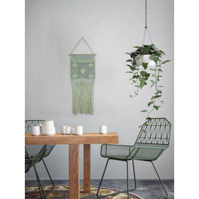 "Green ""Light Green Macrame"" by Marmont Hill Wall Tapestry"