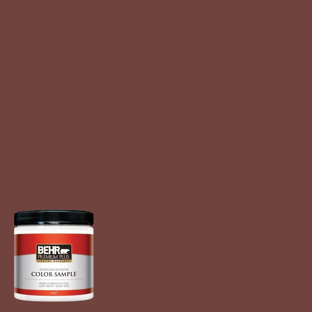 BEHR Premium Plus 8 oz. #160F-7 Burnished Mahogany Interior/Exterior Paint Sample