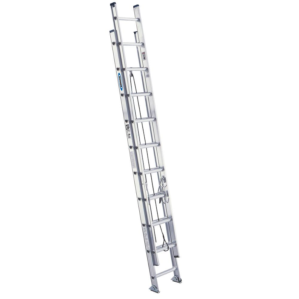 Werner 20 Ft Aluminum Extension Ladder With 300 Lb Load Capacity Type Ia Duty Rating D1520 2 The Home Depot