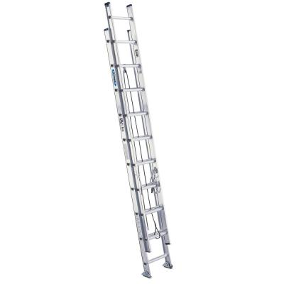 Werner 20 Ft Aluminum D Rung Extension Ladder With 250 Lb Load Capacity Type I Duty Rating D1320 2 The Home Depot