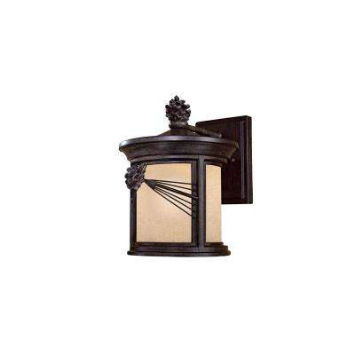 Abbey Lane 1-Light Iron Oxide Outdoor Wall Mount Lantern