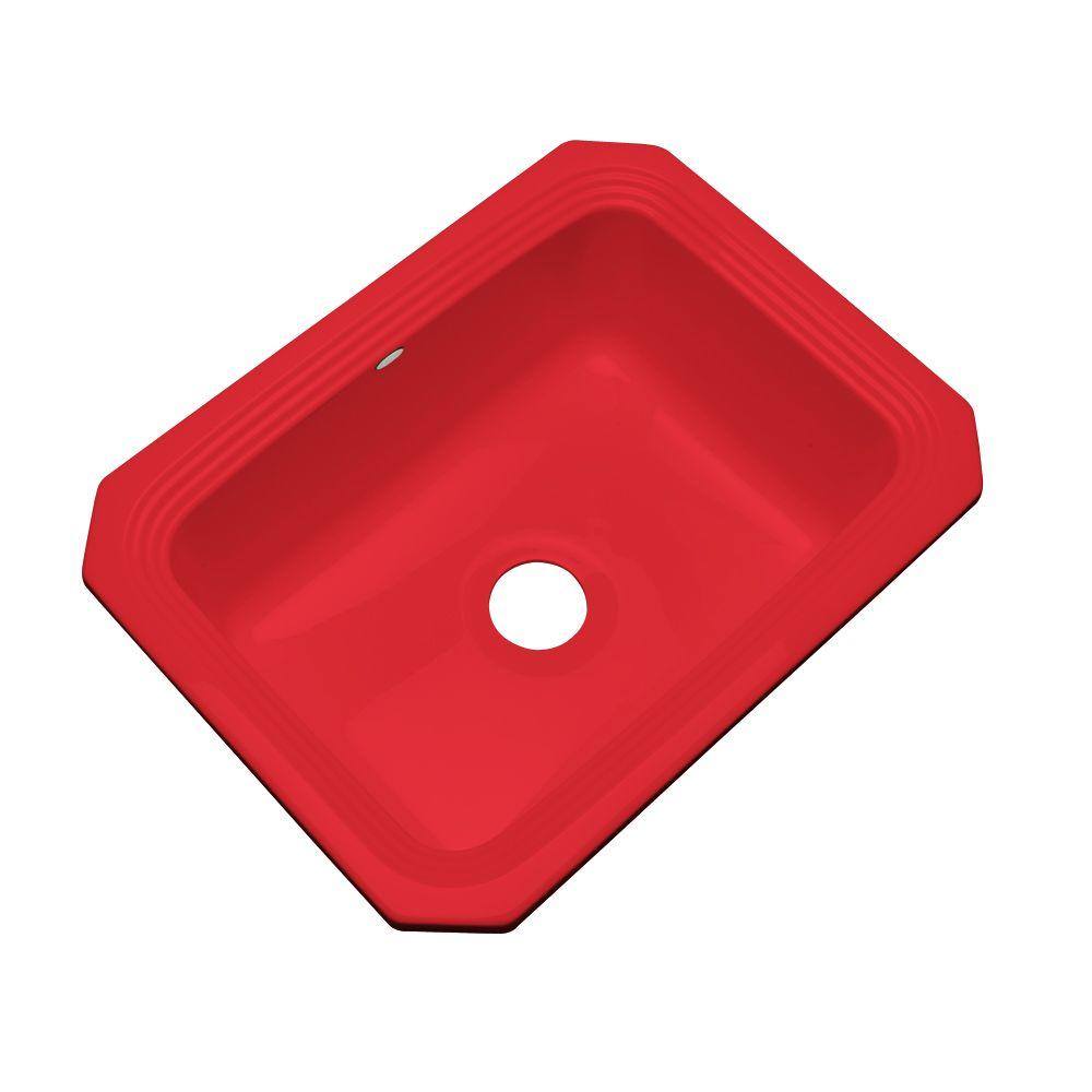 Thermocast Rochester Undermount Acrylic 25 in. Single Basin Kitchen Sink in Red