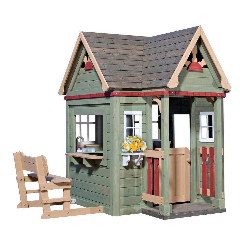 Backyard Discovery Victorian Inn Cedar Playhouse