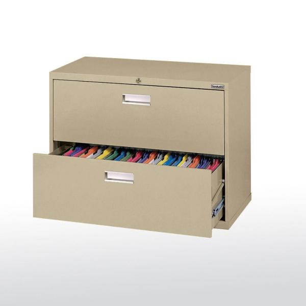 Sandusky 600 Series 36 in. W 2-Drawer Lateral File Cabinet in